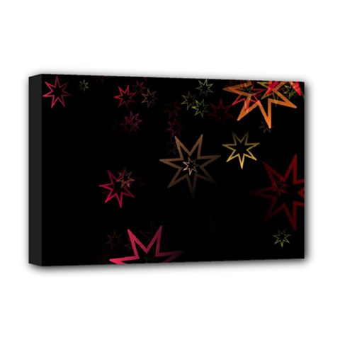 Christmas Background Motif Star Deluxe Canvas 18  X 12