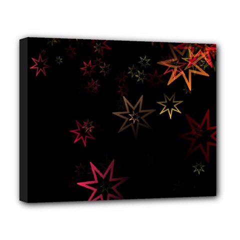 Christmas Background Motif Star Deluxe Canvas 20  X 16
