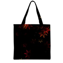 Christmas Background Motif Star Grocery Tote Bag