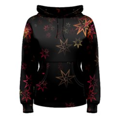 Christmas Background Motif Star Women s Pullover Hoodie