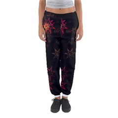 Christmas Background Motif Star Women s Jogger Sweatpants