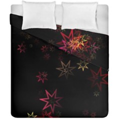 Christmas Background Motif Star Duvet Cover Double Side (california King Size)