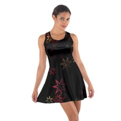Christmas Background Motif Star Cotton Racerback Dress