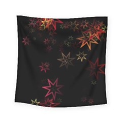 Christmas Background Motif Star Square Tapestry (small)