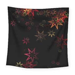 Christmas Background Motif Star Square Tapestry (large)