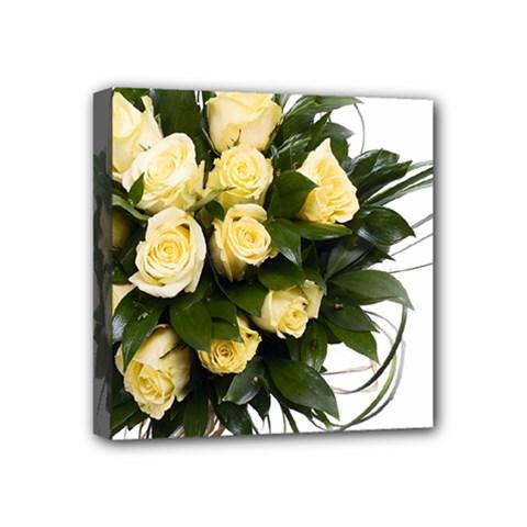 Bouquet Flowers Roses Decoration Mini Canvas 4  X 4