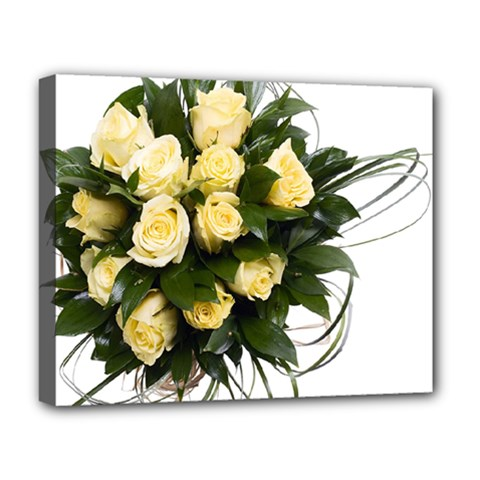 Bouquet Flowers Roses Decoration Deluxe Canvas 20  X 16