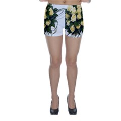 Bouquet Flowers Roses Decoration Skinny Shorts