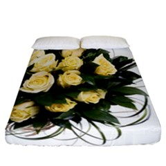 Bouquet Flowers Roses Decoration Fitted Sheet (california King Size)