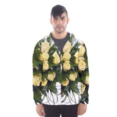 Bouquet Flowers Roses Decoration Hooded Wind Breaker (men)