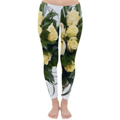 Bouquet Flowers Roses Decoration Classic Winter Leggings