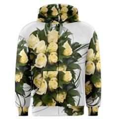 Bouquet Flowers Roses Decoration Men s Zipper Hoodie