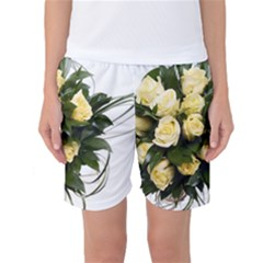 Bouquet Flowers Roses Decoration Women s Basketball Shorts