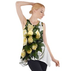 Bouquet Flowers Roses Decoration Side Drop Tank Tunic