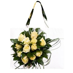 Bouquet Flowers Roses Decoration Large Tote Bag