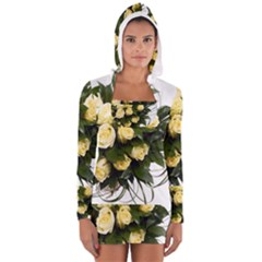 Bouquet Flowers Roses Decoration Women s Long Sleeve Hooded T Shirt