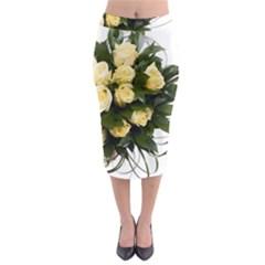 Bouquet Flowers Roses Decoration Midi Pencil Skirt