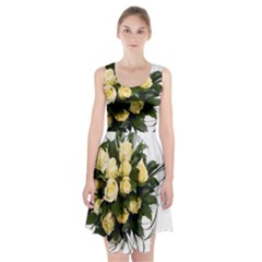 Bouquet Flowers Roses Decoration Racerback Midi Dress