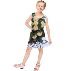 Bouquet Flowers Roses Decoration Kids  Tunic Dress