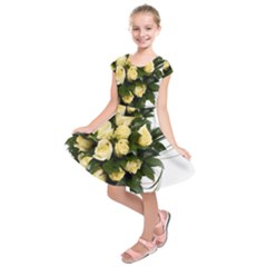 Bouquet Flowers Roses Decoration Kids  Short Sleeve Dress