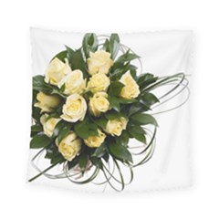 Bouquet Flowers Roses Decoration Square Tapestry (small)