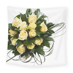 Bouquet Flowers Roses Decoration Square Tapestry (large)