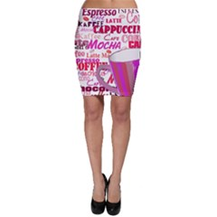 Coffee Cup Lettering Coffee Cup Bodycon Skirt