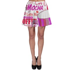 Coffee Cup Lettering Coffee Cup Skater Skirt