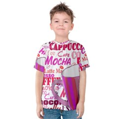 Coffee Cup Lettering Coffee Cup Kids  Cotton Tee