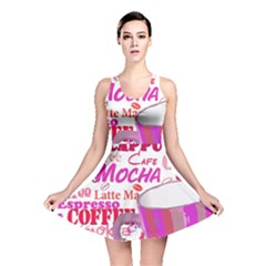 Coffee Cup Lettering Coffee Cup Reversible Skater Dress