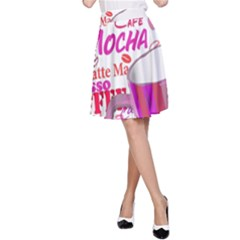 Coffee Cup Lettering Coffee Cup A Line Skirt