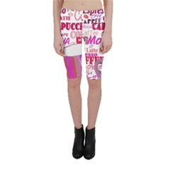 Coffee Cup Lettering Coffee Cup Cropped Leggings