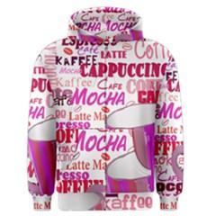 Coffee Cup Lettering Coffee Cup Men s Zipper Hoodie