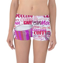 Coffee Cup Lettering Coffee Cup Reversible Bikini Bottoms