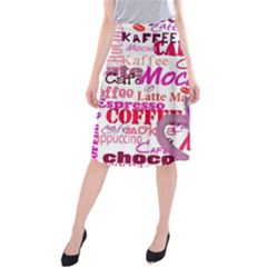 Coffee Cup Lettering Coffee Cup Midi Beach Skirt