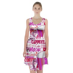 Coffee Cup Lettering Coffee Cup Racerback Midi Dress