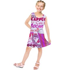 Coffee Cup Lettering Coffee Cup Kids  Tunic Dress