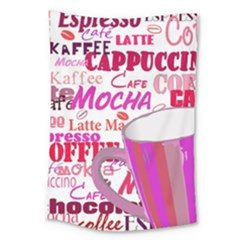 Coffee Cup Lettering Coffee Cup Large Tapestry