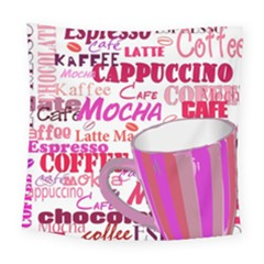 Coffee Cup Lettering Coffee Cup Square Tapestry (large)