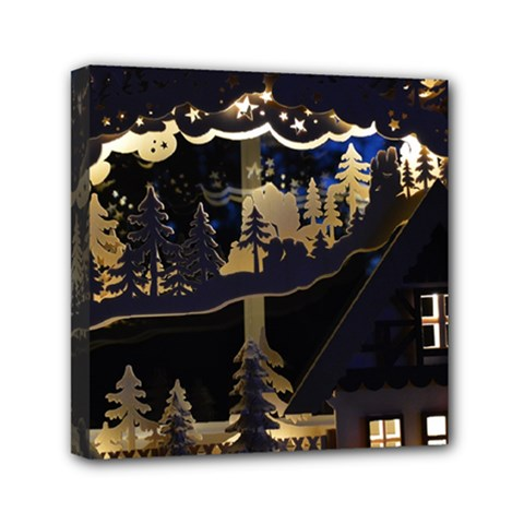 Christmas Advent Candle Arches Mini Canvas 6  X 6