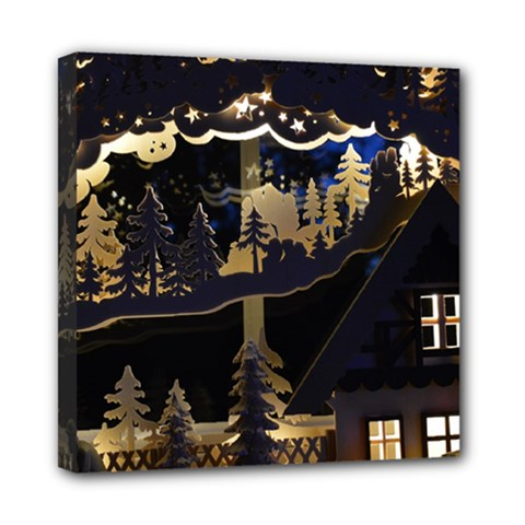 Christmas Advent Candle Arches Mini Canvas 8  X 8