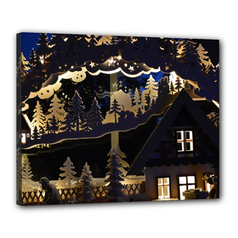 Christmas Advent Candle Arches Canvas 20  X 16