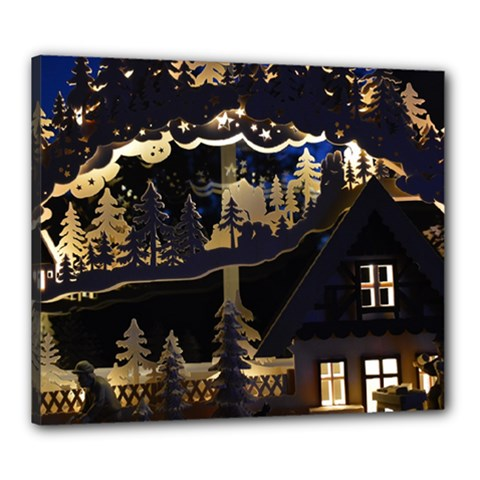 Christmas Advent Candle Arches Canvas 24  X 20