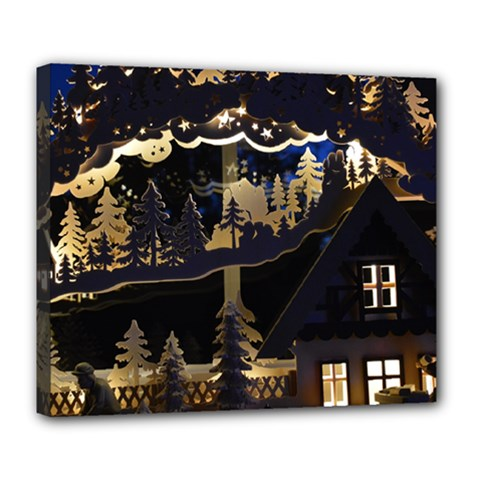 Christmas Advent Candle Arches Deluxe Canvas 24  X 20