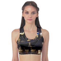 Christmas Advent Candle Arches Sports Bra