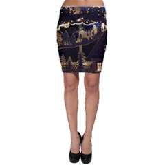 Christmas Advent Candle Arches Bodycon Skirt