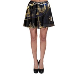 Christmas Advent Candle Arches Skater Skirt