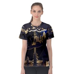 Christmas Advent Candle Arches Women s Sport Mesh Tee