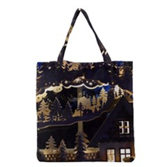 Christmas Advent Candle Arches Grocery Tote Bag