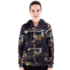 Christmas Advent Candle Arches Women s Zipper Hoodie